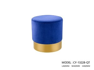 Brushed Gold Footstool