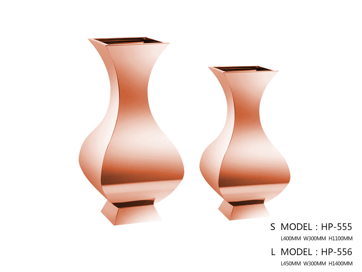 Polished Rose Gold Flower Pot H1100 - One Small Size Only