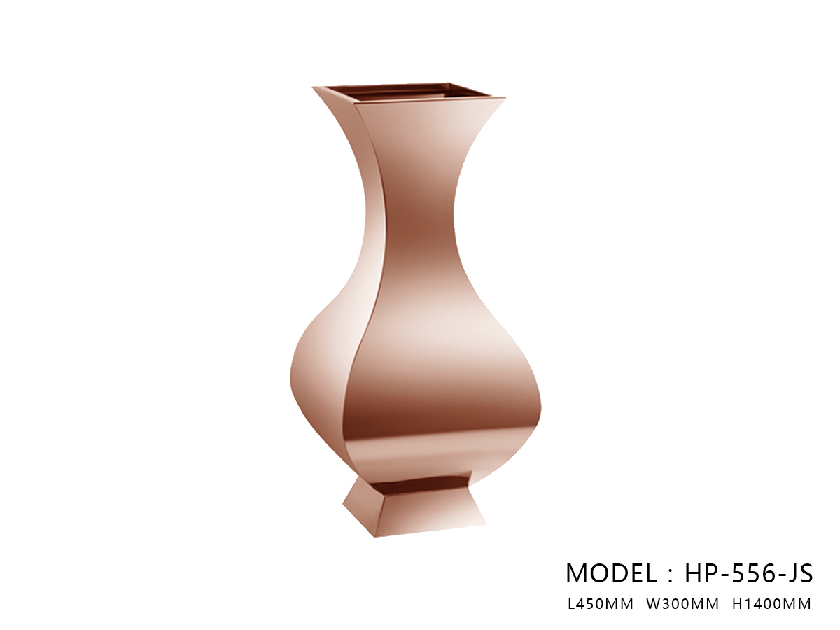 Polished Rose Gold Flower Pot H1400 - One Large Size Only