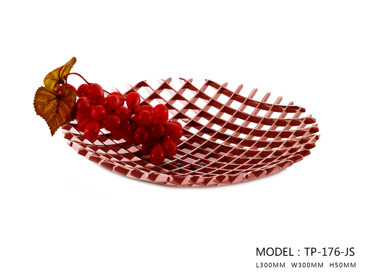 Polished Rose Gold Fruit Plate - One Medium Size Only