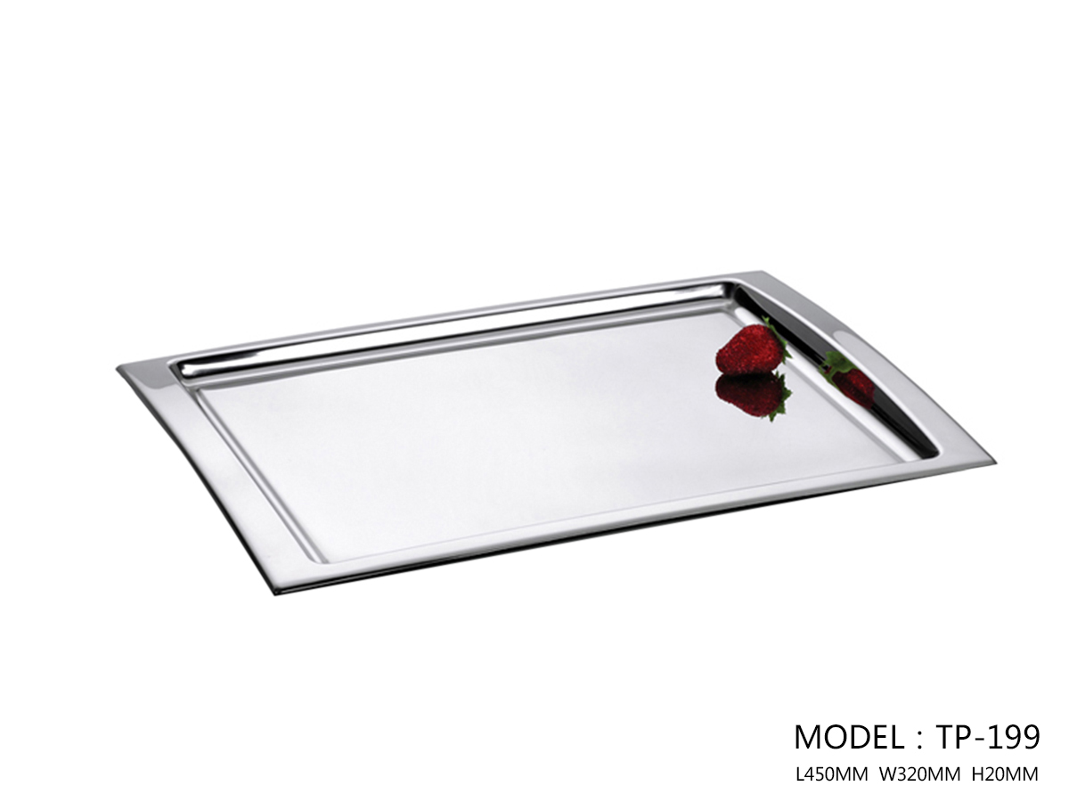 Polished Stainless Steel Rectangular Depth Tray