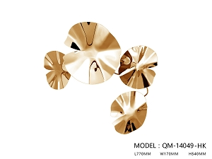 Lotus Leaf Stainless Steel Wall Décor - One Small Size Only
