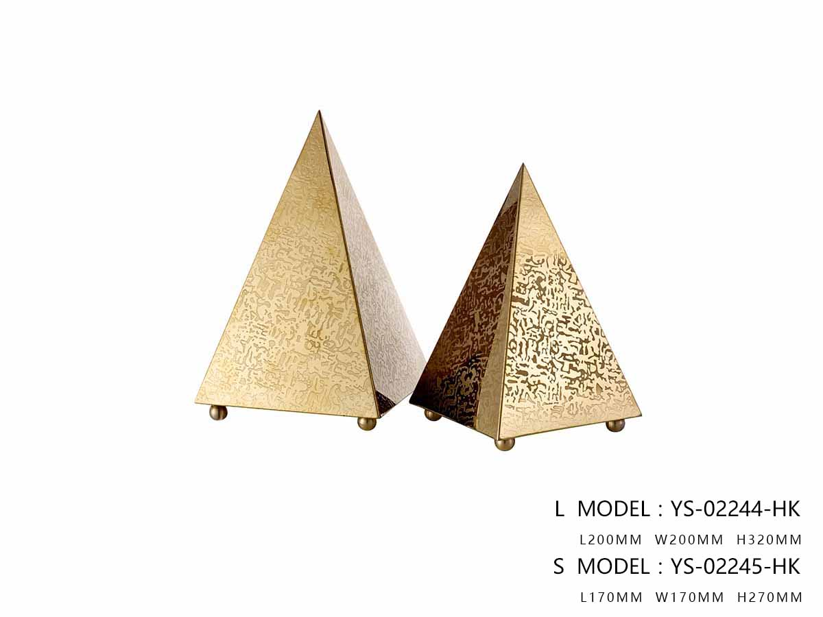 The Steel Pyramid Décor, Polished Gold - One Large Size Only